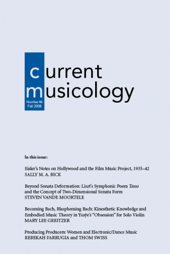 Current Musicology academic journal cover